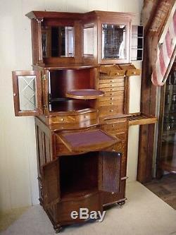 Antique Oak Ransom & Randolph Co. Dental Cabinet Model #66