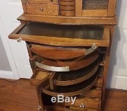 Antique Oak Ransom & Randolph Company Dental Cabinet #40 Early 1900's