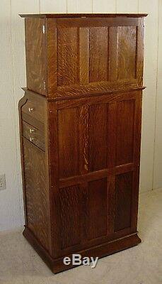 Antique Oak Ransom & Randolph Dental Cabinet #35