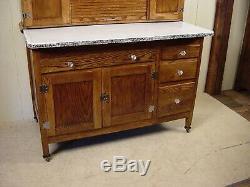Antique Oak Sellers Hoosier Cabinet