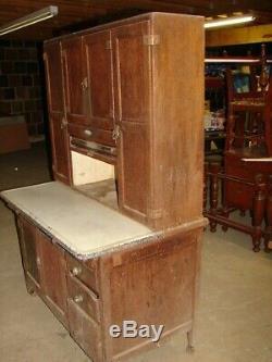 Antique Oak Sellers Kitchen Cabinet For Restoration WAREHOUSE SOLD SELLING