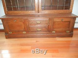 Antique Oak Shaving Mug Barber Shop Display Cabinet. Circa 1915