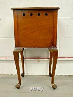 Antique Oak Side Table / Bedside / Sofa Table 1 Draw 1 Door