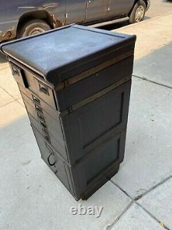 Antique Oak Wood Library Storage File Cabinet 38 ht