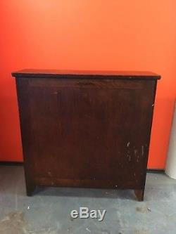 Antique Oak Yawman & FRBE Map / Blueprint Cabinet Fold Out Drafting Table Rare