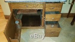 Antique Original Early 1900's Hoosier Mfg. Co. Kitchen Cabinet