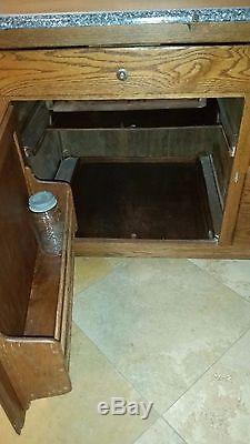 Antique Original Early 1900 S Hoosier Mfg Co Kitchen Cabinet