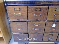 Antique Original Finish Oak Shaw Walker Stacking File Cabinet Barrister 3 Stack