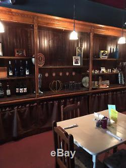Antique Pharmacy back bar 1800's restaurant, boutique, salon, office, home