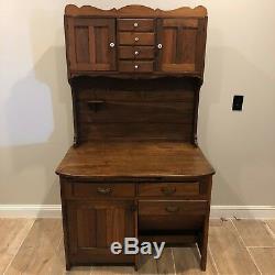 Antique Possum-Belly Kitchen Cupboard/Baker's Cabinet