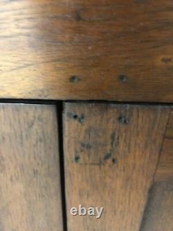 Antique Primitive 1800s American Virginia Wavy Glass Corner Cabinet / Cupboard