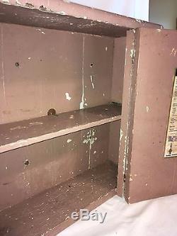 Antique Primitive Medicine Cabinet Hanging Spice Cupboard Country Farm House VTG