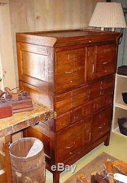 Antique Quarter Sawn Tiger Oak Library Card Catalog File
