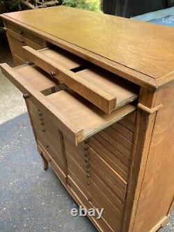 Antique Quartersawn Oak 42 Drawer File Cabinet Tindale Cabinet Co