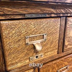 Antique Quartersawn Oak Card Catalog File Cabinet by Library Bureau SoleMakers