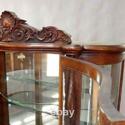 Antique RJ Horner Figural Carved Oak China Cabinet, circa 1900