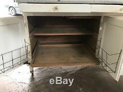 Antique Sellers Hoosier Kitchen Cabinet, Large