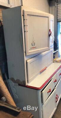 Antique Sellers Hoosier Kitchen Cupboard Original Paint Nice Vintage Item