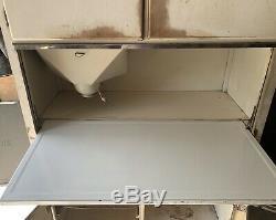 Antique Sellers Kitchen Cabinet Space Saver Hoosier Enamel Table Flour Bin Vtg