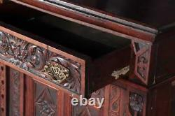 Antique Server, Sideboard, Continental Carved Oak, 19th C, 1800s, Amazing