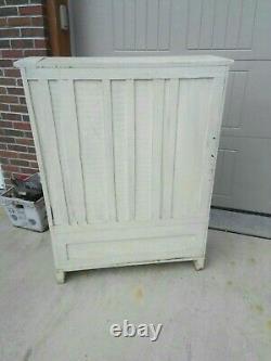 Antique Shabby Chic Oak Wood Cabinet Kitchen Primitive Farm House 1800's RARE