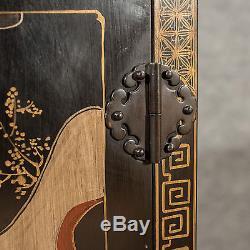 Antique Side Cabinet Cupboard Oriental Asian Mid-20th-Century