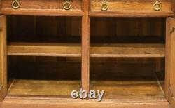Antique Sideboard, French Oak Display Cabinet, Early 1900s, Beautiful