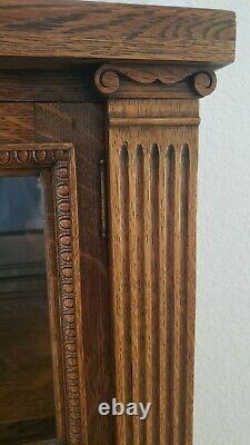 Antique Solid Oak China Cabinet