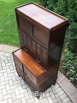Antique Stacking Barrister File Cabinet Globe Wernicke Macey Bookcase