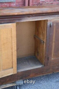 Antique Store Counter Apothecary Cabinet General Store Kitchen Island Back Bar