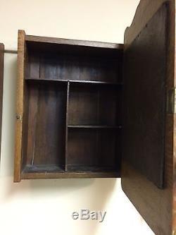 Antique Tiger Oak medicine cabinet