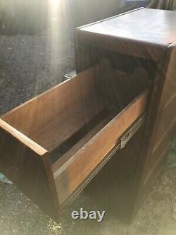 Antique Tiger Oak paneled File Cabinet Library Bureau nice clean home office