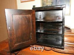 Antique/Vintage 2 Shelves Wooden Medicine Cabinet With Lock & Key