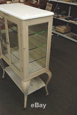 Antique Vintage Early 1900s Scanlan Morris Co. Medical Cabinet Glass Metal RARE