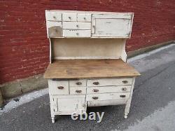 Antique Vintage Farmhouse Kitchen Cabinet Hutch Country Cupboard