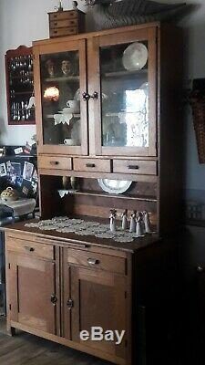 Antique Vintage Hoosier Hutch Cupboard