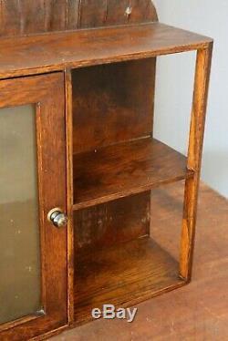 Antique Vintage Medicine Cabinet Apothecary Cupboard with Mirror shelves door