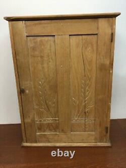 Antique Vintage Railway Wood Cabinet Depot Tickets Railroad Cubby