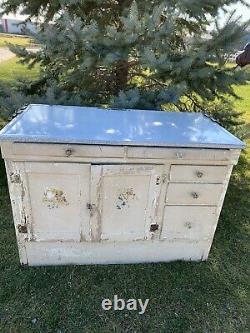 Antique Vintage SELLERS Farmhouse Hoosier Kitchen Cabinet Hutch Cupboard