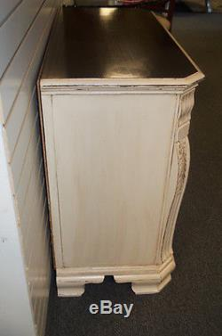 Antique Vintage Shabby Cottage Chic Mahogany Accent Cabinet/ Server