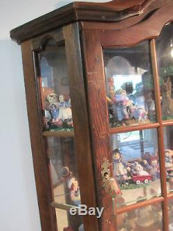 Antique Vintage Wall Cabinet Vitrine Display Curio Glass Dome Top