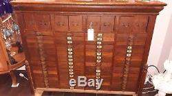 Antique / Vintage Wood 76 Drawer Shop Map Cabinet Boyce Cabinet Company