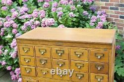 Antique Vtg 1900s Globe Wernicke Card Catalog Library Cabinet Oak 5 Piece