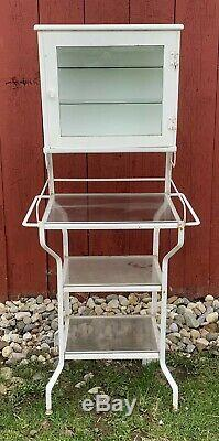 Antique Vtg Early 20s-30s Art Deco Apothecary Medical Dental Cabinet Stunning