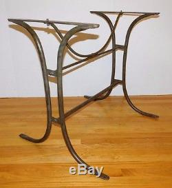 Antique Vtg Wrought Iron French Bakers Bistro Table Base Mid Century - Mid century modern bistro table