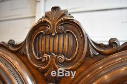 Antique Walnut Cabinet, China Hutch or Bedroom Dresser Armoire