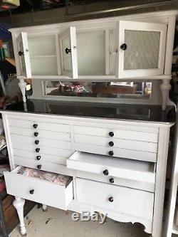 Antique White Antique Dental Cabinet