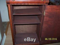 Antique Wood Sheet Music Cabinet
