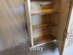Antique Wood Surface Mount Medicine Cabinet Country Cupboard Vtg 107-18P