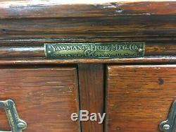 Antique Yawman & Erbe 16-Drawer 1/4-sawn Oak Stack File Card catalog Cabinet